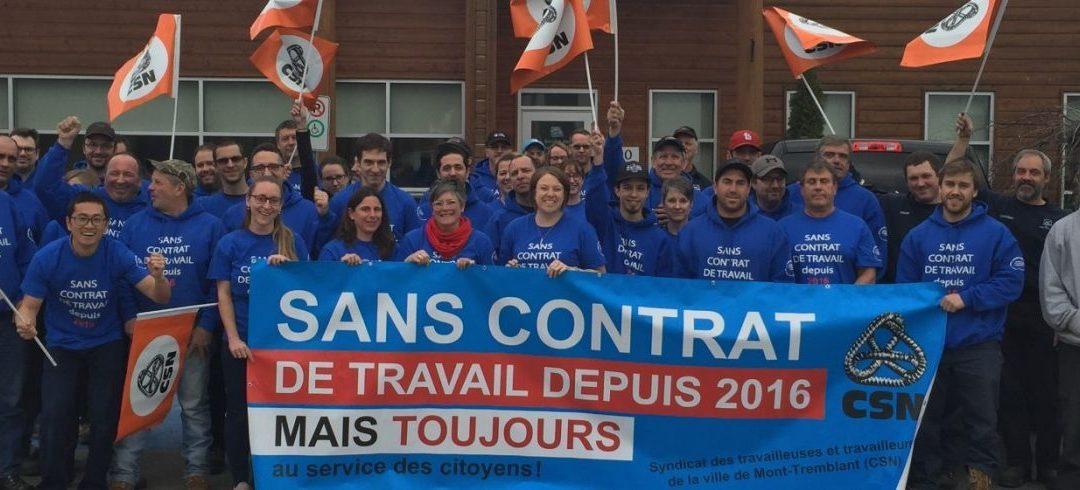 Manifestation en appui au STT de la Ville de Mont-Tremblant
