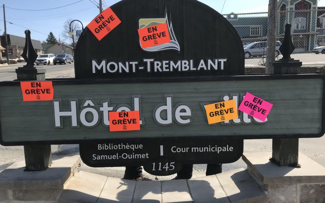 Le syndicat de la Ville de Mont-Tremblant en grève !