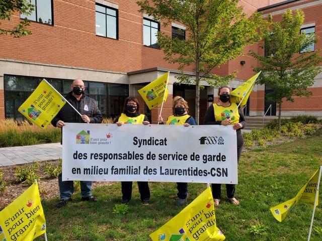 Dans les Laurentides, les RGS en milieu familial de la CSN déclenchent la grève